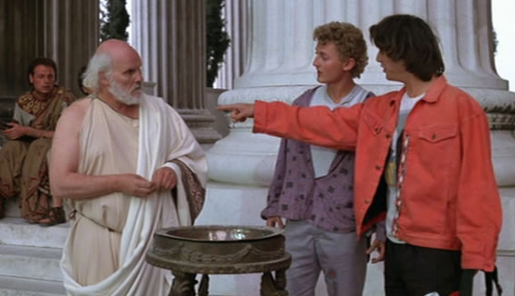 bill ted and socrates. yes i know i meant aristotle