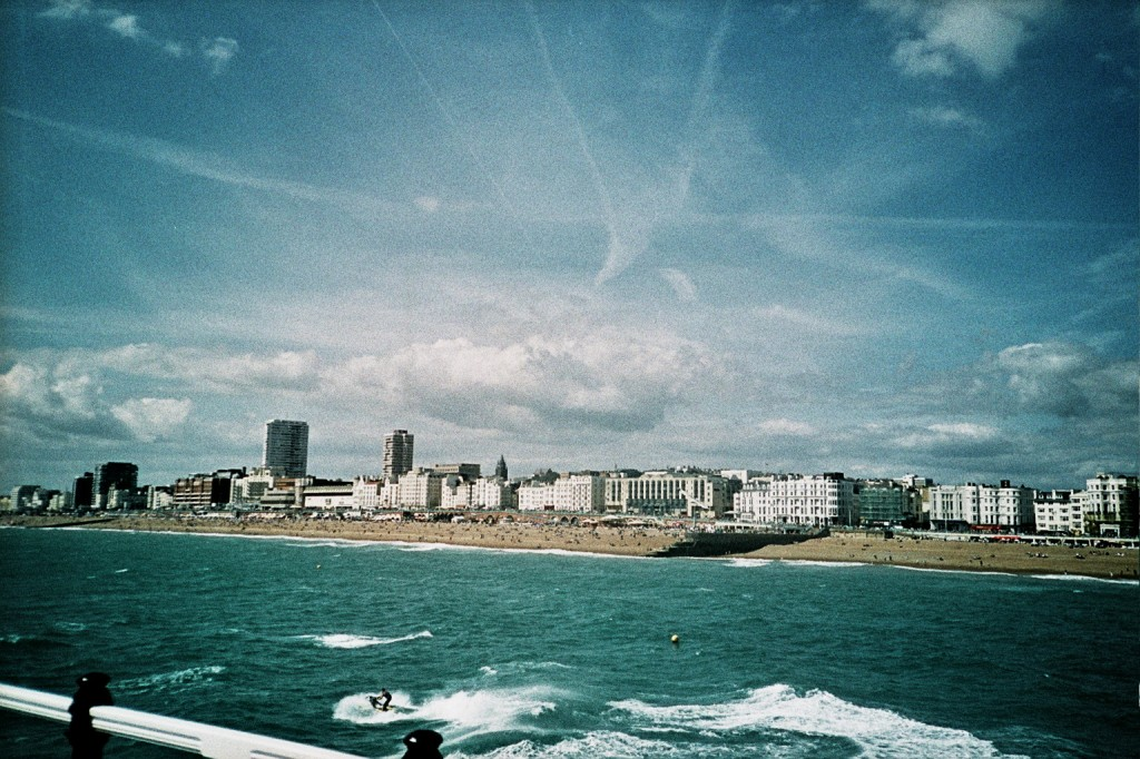 view of sunny Brighton from the Pier