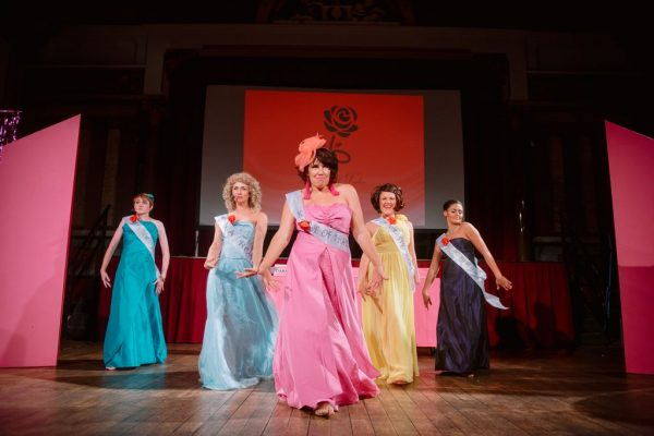 History of Ireland's cast wear colourful ballgowns in the Rose of Tralee beauty pageant