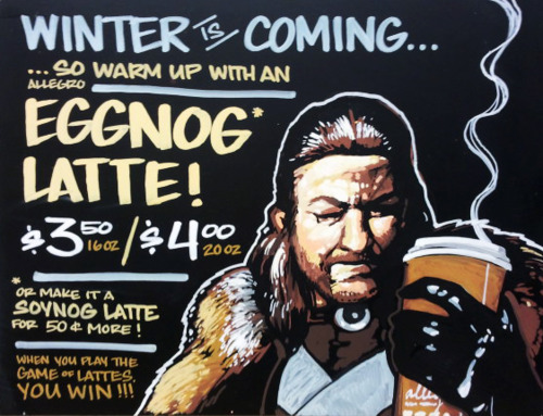 Winter is Coming Latte
