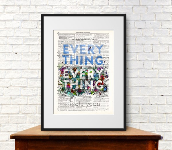 everything everything literary print picture nicola yoon framed