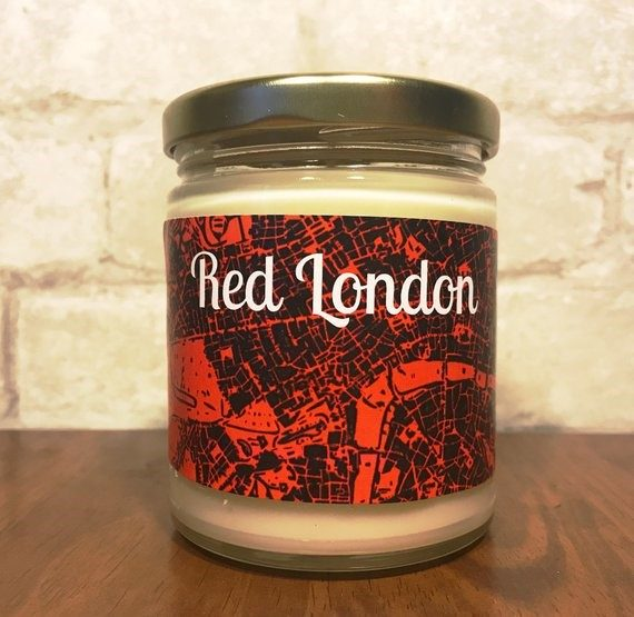 red london candle, ve schwab a darker shade of magic gift