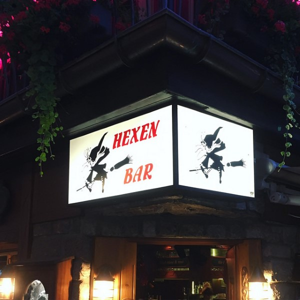 A witchy bar in the mountains of Switzerland